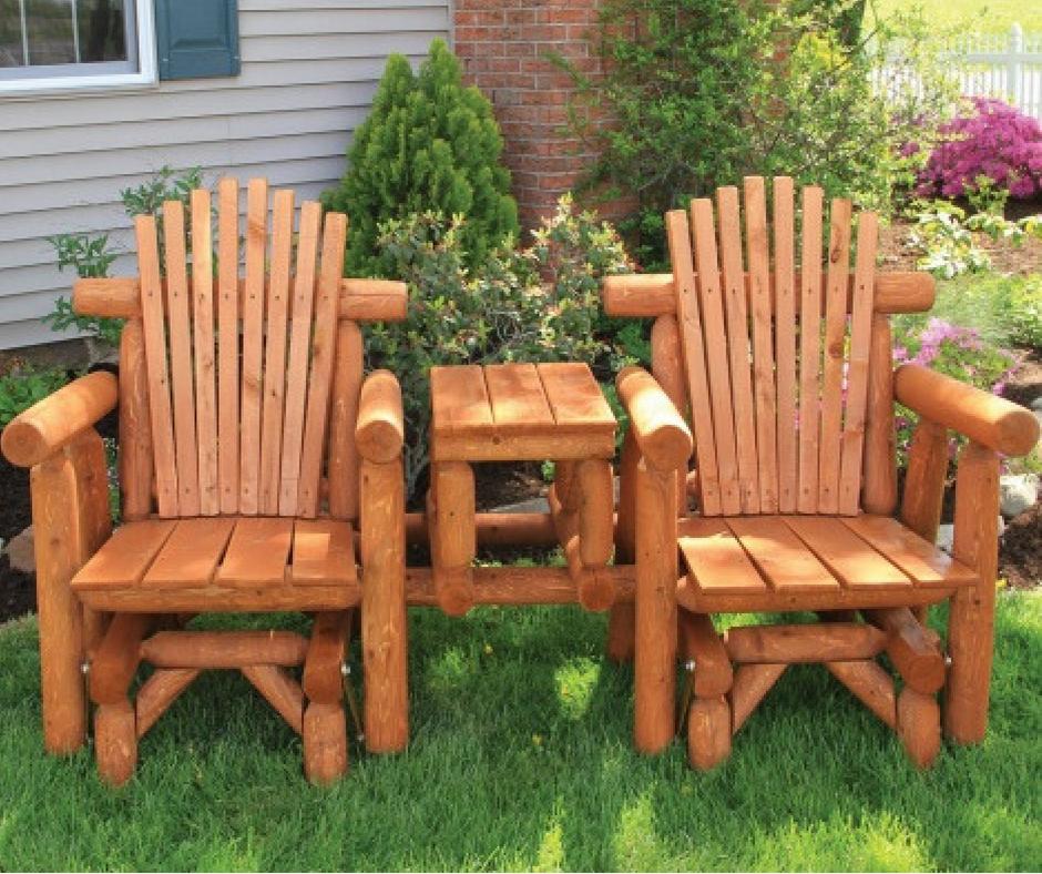Magnificent Cedar Log Outdoor Furniture Made By The Amish Home Interior And Landscaping Sapresignezvosmurscom