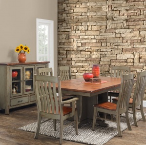 Superbe Coulter Cross 7 Piece Dining Set