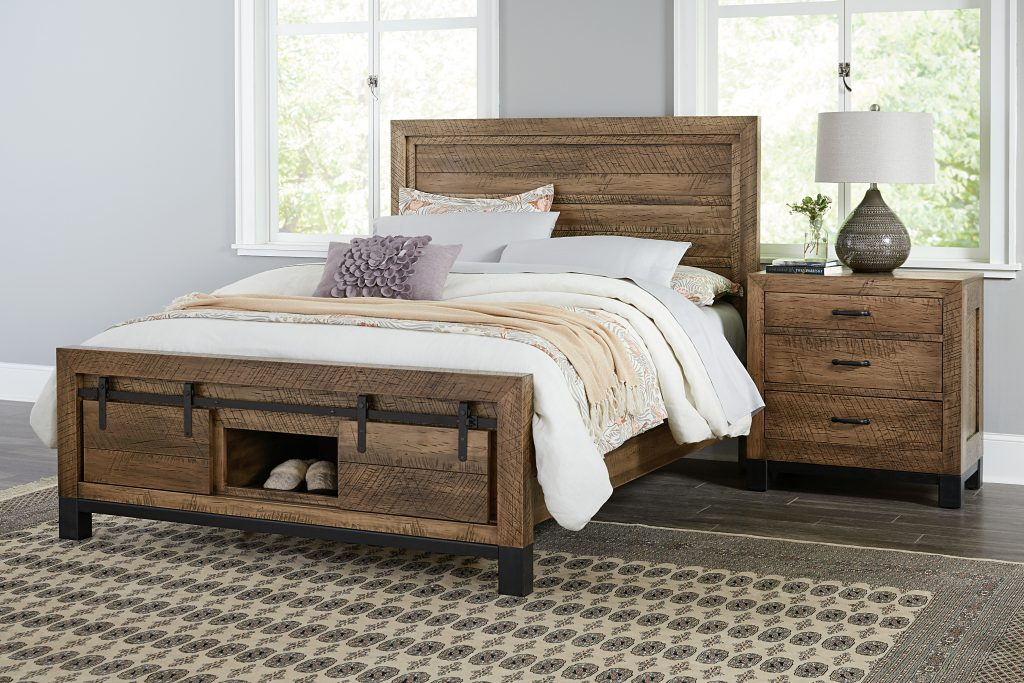 The Sonoma bedroom set from the Cabinfield Woodworking Rustic Sophisticates collection