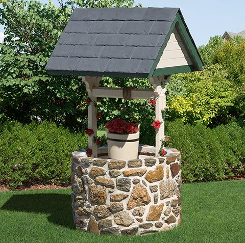 Wishing Well With Stone Base Blog Handmade Amish