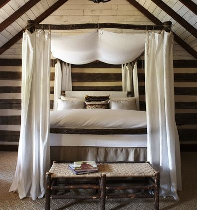 An elegant canopy bed ... & Rustic Room Décor - Blog - Handmade Amish Furniture | Cabinfield ...