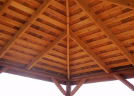 Cedar Rectangle Log Patio Gazebo Kits Large And Small