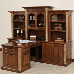 Jefferson Partner Amish Desk with Hutch Option