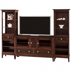 Venice Amish Entertainment Center & Tower Cabinets