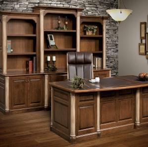 Jefferson Premier Amish Office Furniture Set