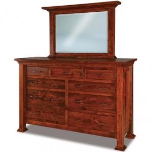 Empire 9 Drawer Wide Dresser & Optional Mirror