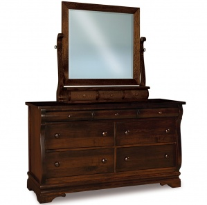 Fontaine 7 Drawer Amish Dresser with Mirror Option