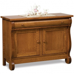 Olde Sleigh Amish Sofa Table Cabinet
