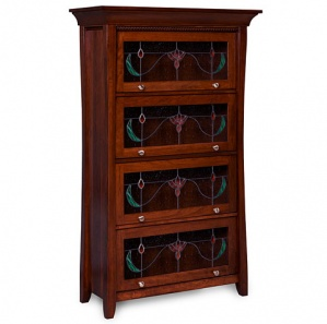 Berkley Barrister Amish Bookcases with Optional Stained & Leaded Glass