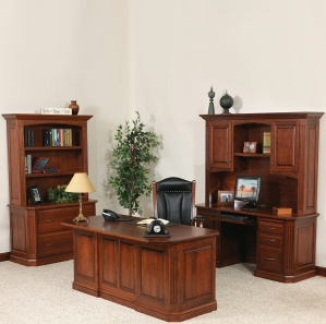 Buckingham Deluxe Office Furniture Set & Optional Hutches