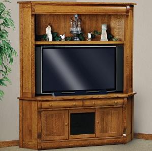 Olde Sleigh Corner Amish TV Cabinet & Hutch