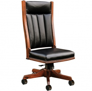 Mission Side Amish Desk Chair
