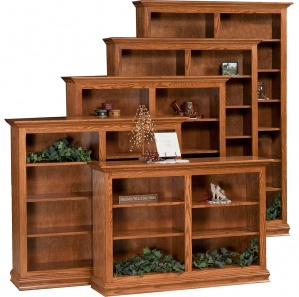 Traditional Double Bookcase with Optional Doors