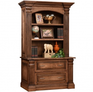 Montereau Lateral File With Amish Bookshelf Option