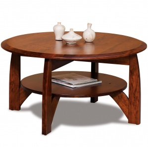 Boulder Creek Round Amish Coffee Table
