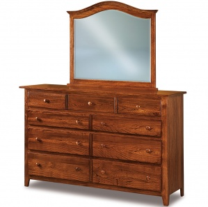 Eagle Hill Amish Dresser with Mirror Option