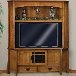 Mariposa Corner Amish TV Cabinet & Hutch