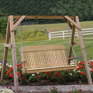 Classic Highback Amish Porch Swing