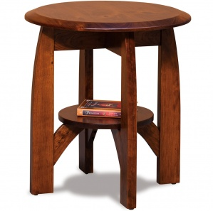 Boulder Creek Round Amish End Table