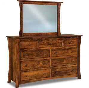 Matison 9 Drawer Dresser with Arched Drawer & Optional Mirror