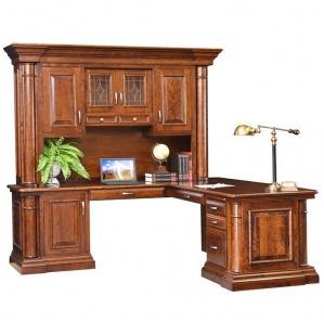 Paris Corner Amish Desk with Hutch Option