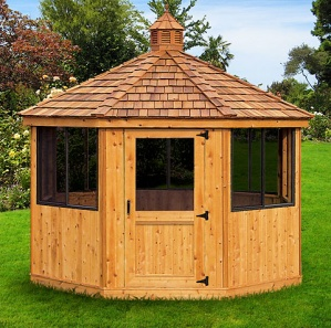 Cedar Octagon Pool House Cabana Kit