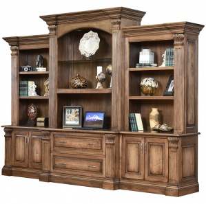 Montereau Grand Amish Desk With Bookcase Hutch Option