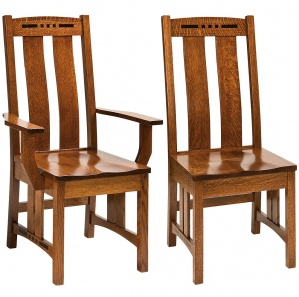 Colebrook Ebony Inlaid Dining Chairs