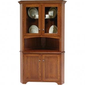 Claridge House Corner Buffet with Amish Hutch Option