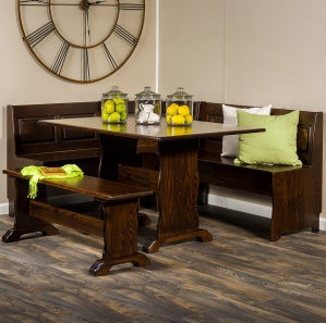 Traditional Amish Breakfast Nook Set
