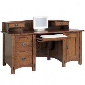 Spring Hill Large Computer Desk & Optional Desktop Organizer