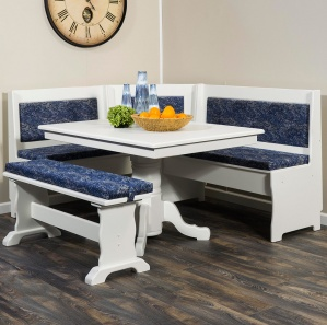 Upholstered Traditional Amish Breakfast Nook Set