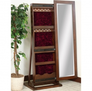 Cabinfield Jewelry Storage Sliding Leaner Mirror
