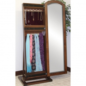 Cabinfield Jewelry & Scarf Storage Sliding Leaner Mirror
