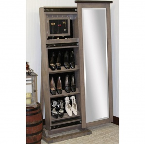 Cabinfield Jewelry & Shoe Storage Sliding Leaner Mirror