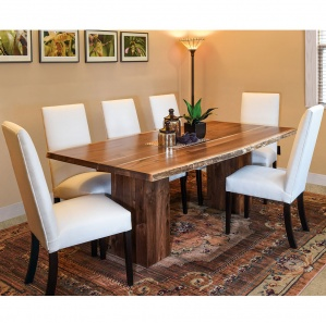 live edge table set rustic table and chairs wood slab table