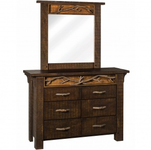 Glen Arbor 6 Drawer Dresser with Optional Mirror