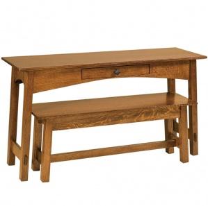 McCoy Sofa Table & Optional Bench