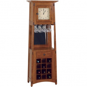 McCoy Wine Rack Clock