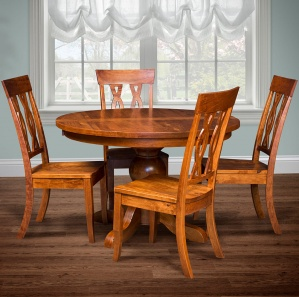 Grayson Grove Round Amish Dining Table Set