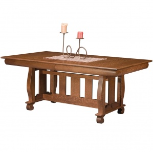 Olde Sleigh Trestle Amish Dining Table