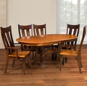 Franco 6 Piece Amish Kitchen Table Set