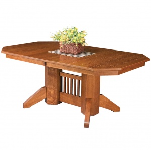 Chatham Row Double Pedestal Amish Dining Table