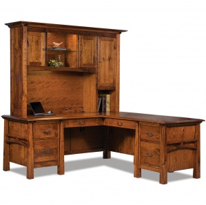 Artesa L Shaped Computer Desk with Hutch Option
