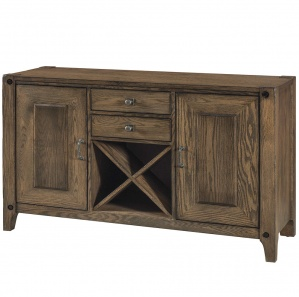 Armanda Amish Buffet Cabinet & Wine Rack