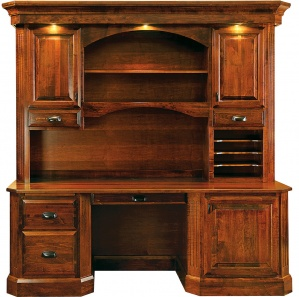 Charter House Amish Desk with Hutch Option