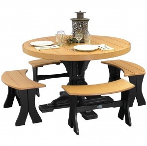 Brookview Round Picnic Table and Benches
