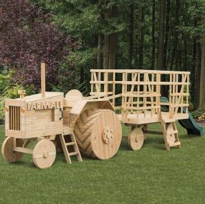 Friendly Farmer Tractor & Wagon Playset Kit