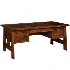 Open Freemont Pedestal Amish Desk