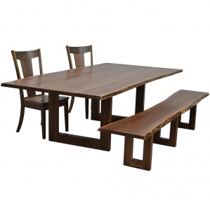 Kalispel Amish Dining Table Set
